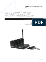 User Guide for PPA VP 37 Wireless Listening System