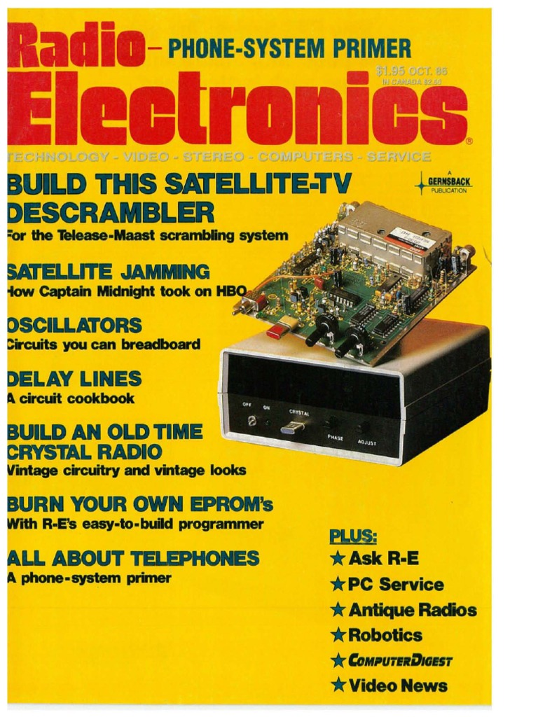 Re Oct 1986 Videocassette Recorder High Definition Television Wiring Diagram Jvc Kd S16 Besides Car Stereo Also