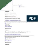General Knowledge World Organisations (2)