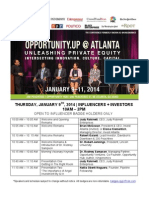 opportunity.UP // unleashing private equity conference // atlanta 2014 // curriculum
