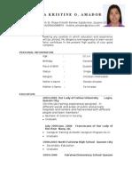 Tin Resume