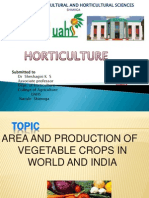 AREA AND PRODUCTION OF VEGETABLES IN INDIA