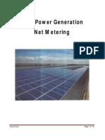 Solar Power Generation Net Metering