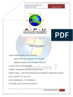Operating System Assignment