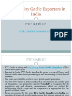 Leading Garlic Exporters in India