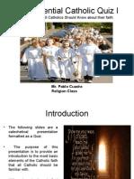 Essential Catholic Quiz I