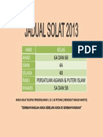 JADUAL SOLAT