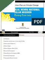 India's National Solar Mission (JNNSM) - National Action Plan on Climate Change (NAPCC)