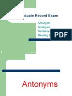 Graduate Record Exam