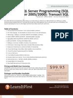 SQL Server Programming (SQL Server 2005/2000)