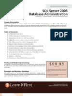 SQL Server 2005 Database Administration
