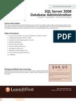 SQL Server 2008 Database Administration
