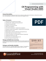 C# Programming with Visual Studio 2005