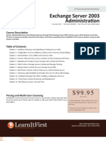 Exchange Server 2003 Administration