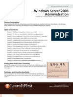 Windows Server 2003 Administration