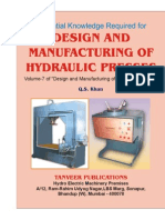 Design and Mfg of Hydraulic Presses