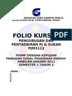 Cover Depan Folio Kursus Pelajar _bca - Copy