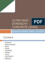 Ultra High Strength Concrete