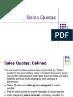 Sales Quotas