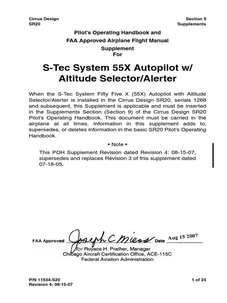 11934-S20 R4 Stec 55X AE | Aircraft Flight Control System