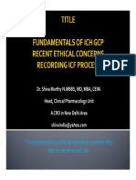 ICH GCP Principles, Recent DCGI recommendations and ICF Process - Video Recording