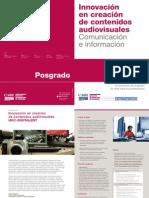 Folleto posgrado innovación audiovisual