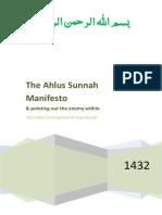 The Ahl Us-Sunnah Manifesto