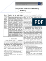 Effective Routing Metric for Wireless Multi-hop Networks