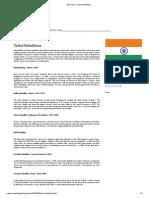 Tribal Rebellions of India