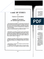Canons of Journalism -- ASNE -- Code of Ethics -- 1922