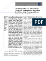 An Exploratory Study on the Use of Knowledge Management System and the Employees' Perception on Organizational Knowledge Sharing and Reuse