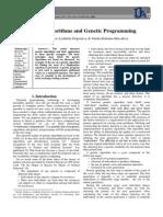 Genetic algorithms and genetic programming