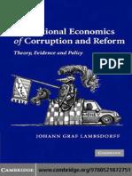 CORRUPTION the Institutional Economics of Corruption and Reform (1)
