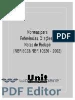 Citacoes-e-referencias ABNT NBR6023 e 10520