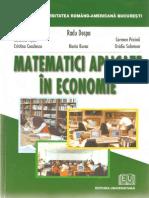 Matematici Aplicate in Economie