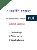 Prop. Thermiques