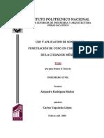 423_uso y Aplicacion de Sondeos de Penetracion de Cono en Cimentaciones de La Ciudad de Mexico