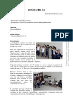 Relato de Atividade Educação Musical - BONECO DE AR