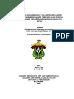 Peranan Badan Permusyawaratan Desa (Bpd) Dalam Penyelenggaraan Pemerintahan Di Desa Buntu Nanna Kecamatan Ponrang Kabupaten Luwu
