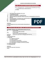 Formato_informe Suepervision Pedagogica
