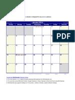 Excel 2014 Calendar With Holidays