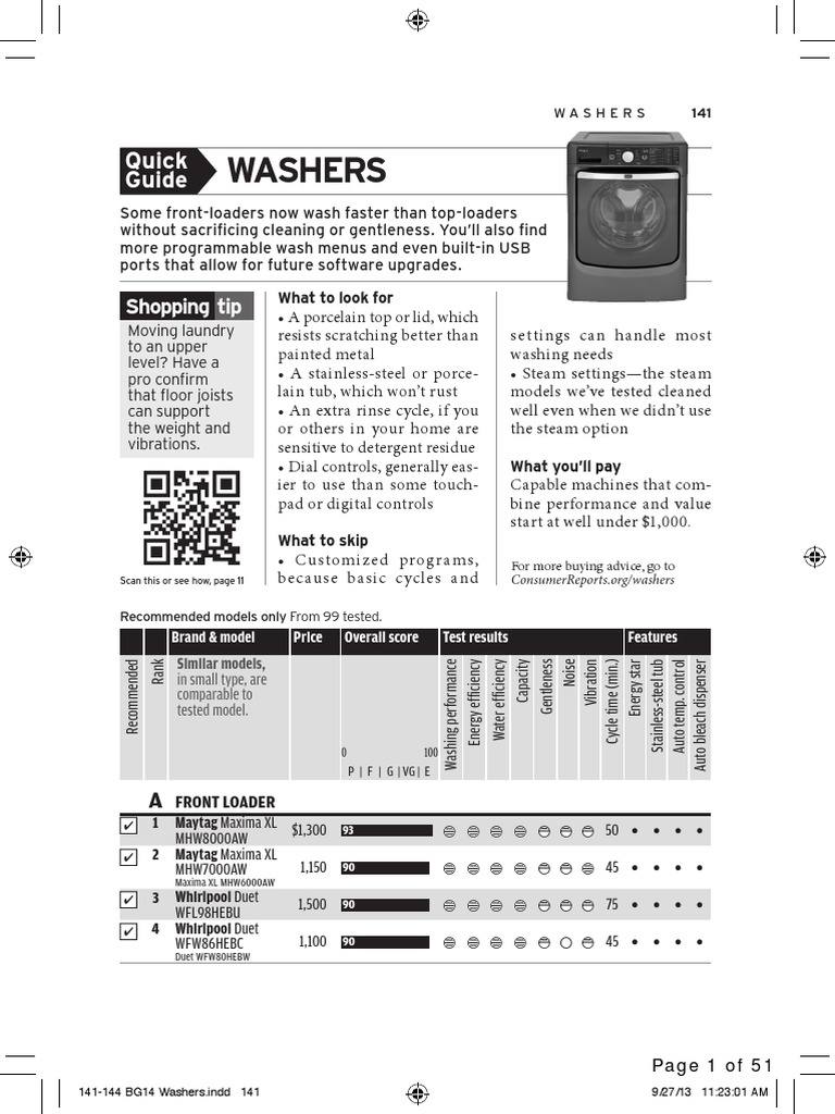 Consumer Reports Buying Guide 2014: Home Appliances | Washing Machine |  Vacuum Cleaner