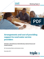 Working Paper 5 - Arrangements and Cost of Providing Support to Rural Water Service Providers Analyses
