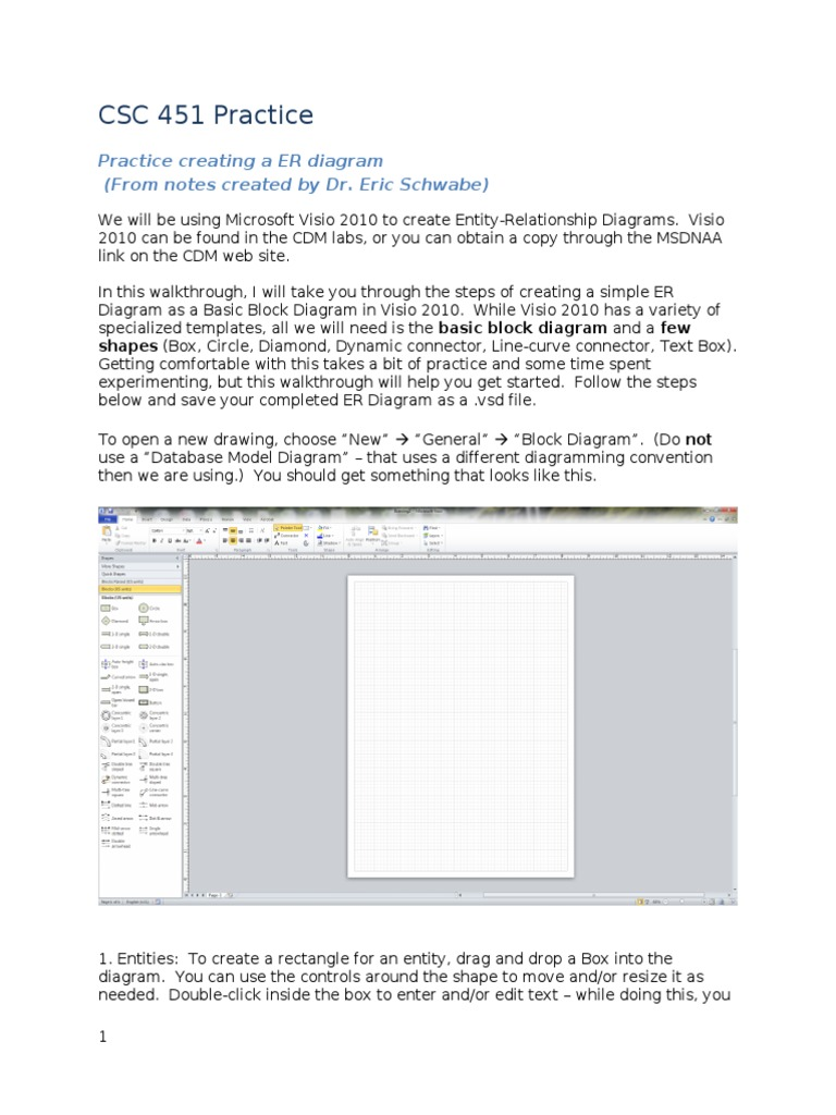 4_Using Visio Practice | Office Suites For Windows | Windows Text Related  Software