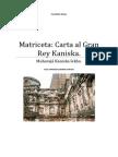 Matriceta Carta Al Gran Rey Kaniska