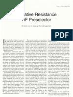 Negative Impedance Preselector