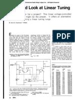 Linear Oscillator Tuning