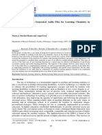 JOURNAL Maria J. Ruedas-Rama and Angel Orte Using Text-To-Speech Generated Audio Files for Learning Chemistry in Higher Education