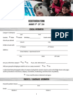 2014 Winter Retreat Registration Form