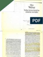 Max Weber - Sobre la Teoria de las Ciencias Sociales